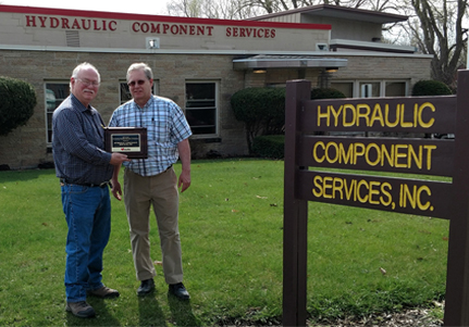 Hydraulic Component Services Receives 2nd Safety Award!